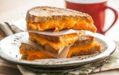 Carrot and Cheddar Grilled Cheese // The kids won't realize there's added nutrition in this fun sandwich!