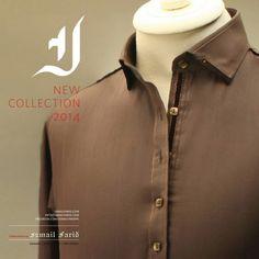 Ismail Farid Kurtas Collection 2014 for Men Eid Fashion Gents Kurta Design, Boys Kurta Design, Kurta Designs, Dress Designs, Fashion Suits, Mens Fashion, Shalwar Kameez Pakistani, Gents Wear, Kurta Men