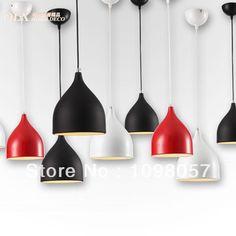 Бесплатная доставка Современная краткое железа бар ламп спальню лампы маджонг освещения черный белый красный Подвесные светильники подвесные светильники