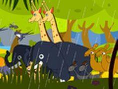 The Animals Went In Two By Two Nursery Rhyme (+lista de reproducción) Preschool Songs, Preschool At Home, Kids Songs, Rhymes Lyrics, Rhymes Songs, Nursery Ryhmes, Cartoon Songs, Animal Themes, Rainforest Animals