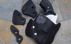 Looking for a pocket carry solution? Here are several pocket holsters that simplify carrying a self-defense gun and keep it at the ready. Pocket Holster, Leather Holster, Holsters, Everyday Carry, Self Defense, Carry On, All Black Sneakers, Guns, Easy