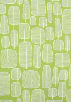 Tapeten - Tapete/Wallpaper - Little Trees - ein Designerstück von stoffsalon bei DaWanda