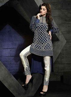 Designer Blue And White Faux Georgette Pakistani Suit  http://www.angelnx.com/Salwar-Kameez/Pakistani-Suits