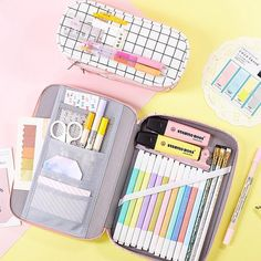 Kawaii stationery online shop sure to satisfy any kawaii and stationery addicts. Find your unique stationery, toys and accessories. Cute Pencil Pouches, Cute Pencil Case, School Pencil Case, Pencil Cases, Middle School Supplies, Stationary Organization, Desktop Organization, Pencil Organizer, Leather Pencil Case