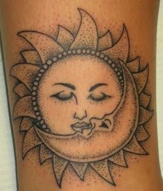 Sun and Moon Tattoo Gallery Moon Star Tattoo · Nautical Star Tattoo All these are inscribed in celestial moon sun tattoo designs t. Foot Tattoos, Body Art Tattoos, Sleeve Tattoos, Tattoo Art, Tatoos, Star Tattoos, Flower Tattoos, Crown Tattoos, Kunst Tattoos
