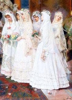 The Wedding 1885 ~ Giulio Rosati ~ (Italian, 1858-1917)