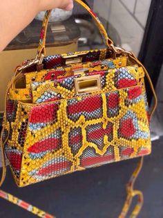7a2554fc3e Fendi MINI PEEKABOO python handbag Fendi Purses, Big Purses, Cheap Purses,  Purses For