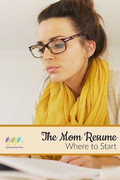 The Mom Resume – Where to Start via @hiphmschoolmoms