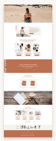 The Pursue Squarespace Template Kit is for bloggers and service-providers who want to 'pursue' their dreams and look good online while doing it. #Squarespace #premiumTemplate #BusinessTemplate #templatekit