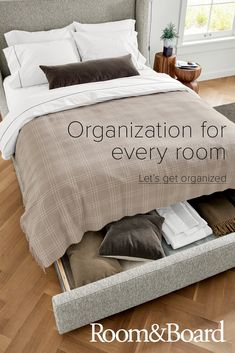 Make every day feel like a New Year& resolution with new easy-to-organize items for every room. Home Bedroom, Master Bedroom, Bedroom Decor, Organizing Your Home, Home Organization, Dream Home Design, House Design, Cool Furniture, Bedroom Furniture