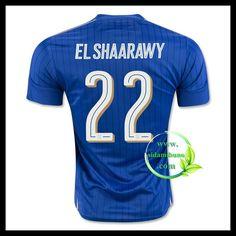 Billige Fotballdrakter Italia EL SHAARAWY 22 Hjemmedraktsett UEFA Euro 2016