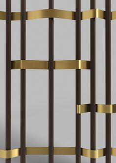 Beautiful railing detail in bronze and brass