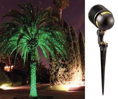 Firefly Outdoor Landscape Light.  Laser lights project thousands of sparkling fireflies on your trees, garden, walls, home and more. The projector covers 25 square foot area, is offered in bright green or blue laser spectrum and can be used indoors or outdoors.
