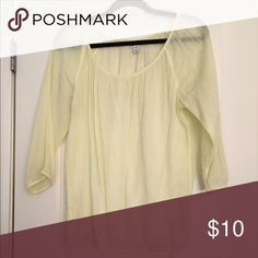 Old Navy yellow lightweight peasant top. Old Navy yellow peasant top. Very light weight. Tops Blouses