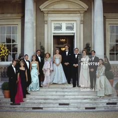 Greek Royal Family Caption: The Greek royal family at Wrotham Park in Hertfordshire, prior to a dinner dance to celebrate the upcoming wedding of Prince Pavlos of Greece to Marie-Chantal Miller, 29th June 1995. From left to right, they are Christopher Getty and his wife Pia Getty (the brides sister), Prince Alexander von Furstenberg and Miss Alexandra Miller (the brides other sister), Mr and Mrs Robert Miller (the brides parents), Marie-Chantal Miller, Crown Prince Pavlos of the Hellenes…