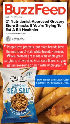 It's the whole grain for us! Our pretzels are made with whole grain sorghum and cassava flour. So we never use bleached and refined gmo corn starches. If you're going to have a delicious snack like pretzels, why not make it count? Real Ingredients Taste Better. Gluten Free Pretzels, Dried Mangoes, Healthy Groceries, High Protein Snacks, Gluten Intolerance, Buzzfeed Food, Plant Based Eating, Dietitian, Yummy Snacks