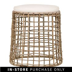 Give your living space a more natural, laid-back look with rattan. This open weave stool is the perfect complement to your existing furniture for a contemporary update.