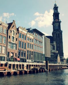 Vista frontal de la casa de Anna Frank - Amsterdam