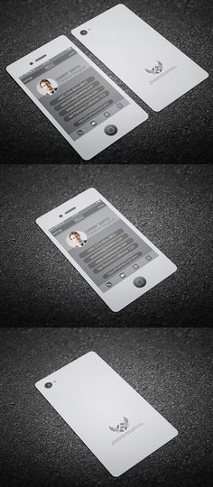 A unique iphone business card design for the tech savvy individual 50 cartes de visite trs cratives et tonnantes voir premium business cardscreative flashek Gallery