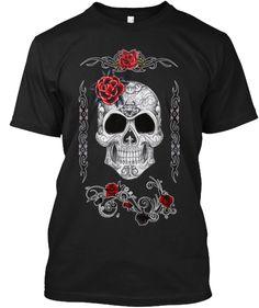 Skull rose tattoo desig shirts