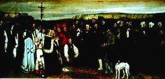 """""""Funerali ad Ornans"""" di Courbet"""