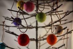felt balls Christmas ornament set of 10 Assorted by HoneyCanada, $20.00