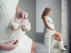 Örgü hamile elbise modeli