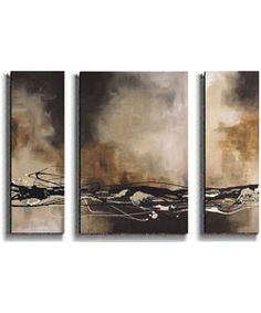@Overstock - Abstract art selections add color and chic sophistication to any roomThree-piece set can be displayed together or separatelyColors are a dynamic exchange of shapes and textureshttp://www.overstock.com/Home-Garden/Maitland-Tobacco-Chocolate-3-piece-Canvas-Set/2625185/product.html?CID=214117 $247.99