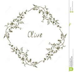 Olive frame hand drawn design