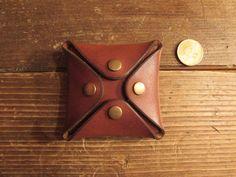 porte monnaie en cuir marron pour homme : Porte-monnaie, portefeuilles par monguypower