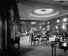 First Class Lounge on the 'Empress of Asia' - National Maritime Museum