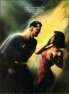 Alex Ross painted his interpretation of the first meeting of Superman and Lois Lane.