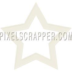 White Cardstock Star by Marisa Lerin | Pixel Scrapper digital scrapbooking*
