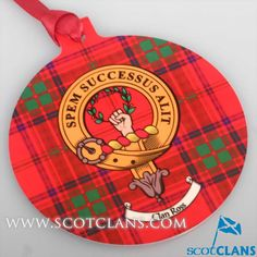 Ross Clan Crest Christmas Ornament