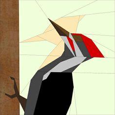 Woodpecker {Forest QAL} / Dzięcioł {Leśny QAL} | Projektownia Jednoiglec