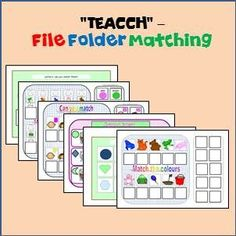 FREE File Folder selection. 6 File Folder Interactive Matching tasks for students with Special Needs & Autism.  Download at:  https://www.teacherspayteachers.com/Product/File-Folder-Fun-6-Interactive-Matching-games-1528192