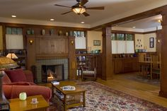 New build: Craftsman Bungalow living room / fireplace