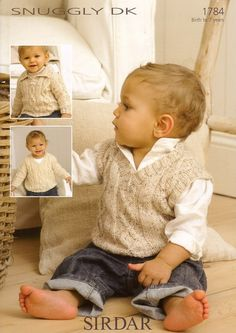 Sirdar Baby Sweaters & Tank Top Knitting Pattern 1784 DK | Knitting | Patterns | Minerva Crafts