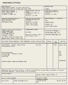 free performa invoice   invoice template word doc   pinterest, Invoice templates