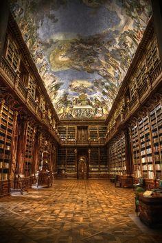 Librería del Monasterio de Strahov,Praga República Checa.
