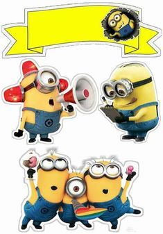 Minions: Free Printable Cake Toppers. - Oh My Fiesta! in english