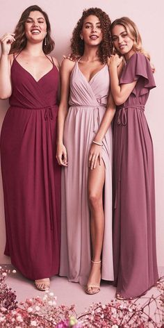 Showcase your wedding party on your big day in their David's Bridal bridesmaid dresses! Davids Bridal Bridesmaid Dresses, Bridesmaid Dress Colors, Wedding Bridesmaids, Bridal Gowns, Wedding Dresses, Flattering Bridesmaid Dresses, Bridal Shower Dresses, Mismatched Bridesmaid Dresses, Bridesmaid Ideas