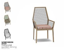 - Thulium Garden Dining - Dining Chair Found in TSR Category 'Sims 4 Dining Chairs'