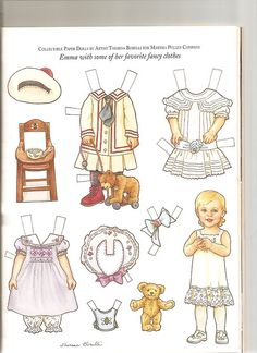 Sew Beautiful paper doll Emma 1 by Lagniappe*Too, via Flickr