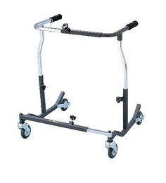 Bariatric Heavy Duty Anterior Safety Roller by Drive Medical. $329.70. Color: Black. Material: Steel. User Size: Bariatric. Weight Capacity: 500 lbs. Allergy: Latex Free. Welded steel frame. Applying pressure to the handlebar activates breaking mechanism. When brake is engaged, the brake stopper hits the wheel and the wheels cannot roll. Ideal for patients with limited hand function and/or limited cognizance. The Safety Roller halts in step with the patient and the...