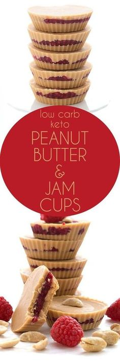 peanut butter & jam cups - keto, low carb