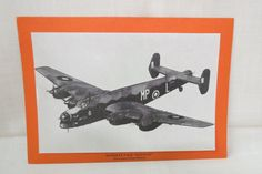 Vintage WWII Plane Handley Page Halifax Picture and Statistics Paper Card British Royal Air Force Bomber by KansasKardsStudio on Etsy