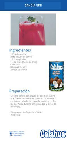 Bebidas de verano: Sandía Gini, hecha con crema de coco Calahua. ¡Deliciosa!