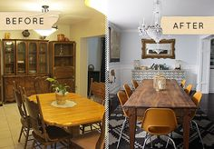 "Before & After: A Dreamy Dining Room With a ""Budgeteer"" Price"