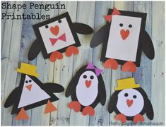 Penguin Printable Craft: Learn Shapes